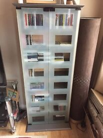 DVD/CD Cabinet with Glass doors.