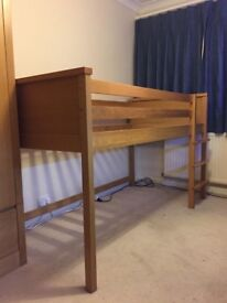 ASPACE Children's Wooden High Sleeper Bed