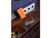 Nintendo gamecube with 3 resident evil games and controller