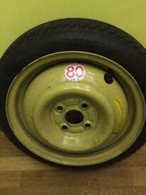 Spear wheel and tyre for Honda jazz 2005