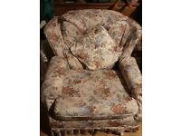 Settee and armchair free to collector