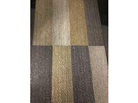 patchwork carpet tiles - only 50p each