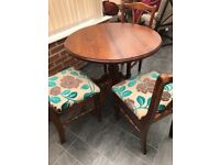 Ducal Table and 3 Chairs