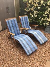 Wooden steamer chairs