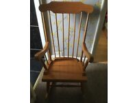Oak laminate rocking chair