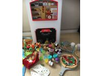 2 in 1 play shop and cafe with accessories