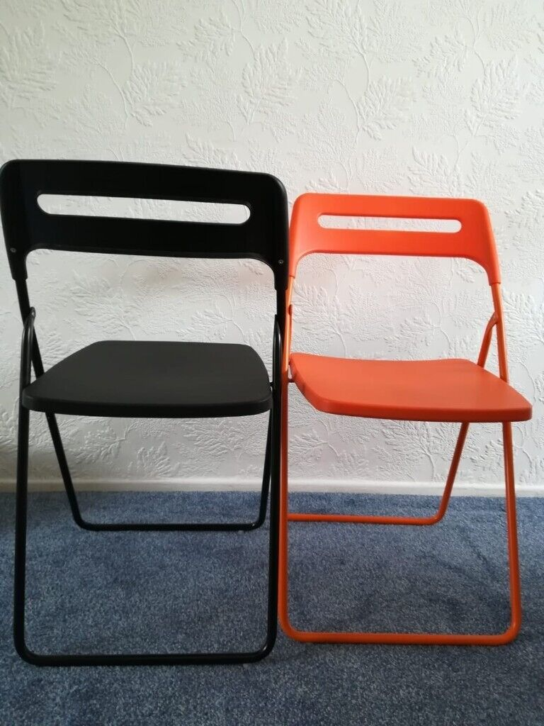 Admirable Ikea Nisse Folding Chairs X 2 In Harborne West Midlands Gumtree Squirreltailoven Fun Painted Chair Ideas Images Squirreltailovenorg