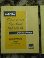 Four 1974-1975-1976 GMC Truck/Sprint Service Manuals