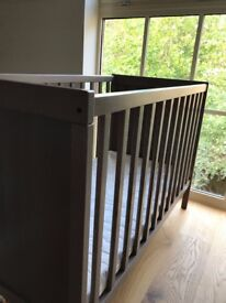 Ikea Sundvik cot in grey-brown for sweet dreams (2 cots available if needed)
