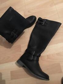 Women's black knee high boots size 6.5
