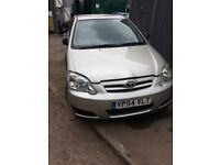 TOYOTA COROLLA 1.6 PETROL 3ZZ-FE ENGINE CODE 2005 FACELIFT BREAKING FOR SPARES TEL 07814971951