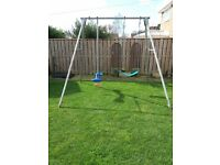 TP Double Swing Frame with TP Skyrider, TP WrapAround swing & Little Tikes Babyseat swing