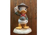 "Walt Disney nephew duck ""A Real Trooper"" figure from 2008 collectors society"
