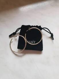 Silver hoop earrings from next