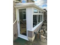 Conservatory door, windows and roof panels