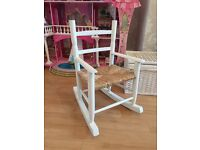 Child's small white wooden rocking chair £10 *good used condition*