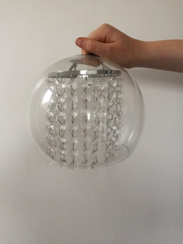 Clear Glass and Crystal Light Shade