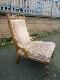 Edwardian Fire side Chair