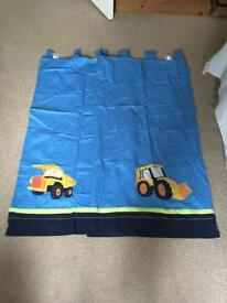 Construction nursery curtains
