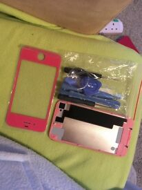 Iphone 4s new pink glass pannels fron and back