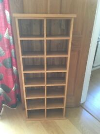 Solid wood bookcase/bookshelf/cd rack