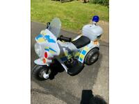 Child's Electric Ride on Police Bike Excellent Used Condition