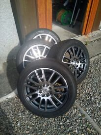 WHEELS AND TYRES, NANKANG ULTRA SPORT MULTI STUD WHEELS AND TYRES 165/50 R 15