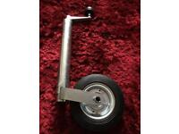 Jockey wheel for large trailer or caravan
