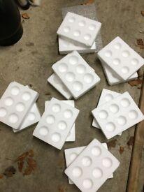 polystyrene egg boxes for safe posting of fertile hens chicken eggs