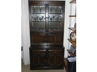 Ercol Old Colonial Display Cabinet & Drawer Base (Open to Offers)