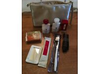 Bulgari travel kit: eau de cologne, body lotion, face emulsion, toothbrush etc