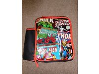Marvel Super Heroes Kids Lunch Bag, with drinks bottle compartment - excellent condition
