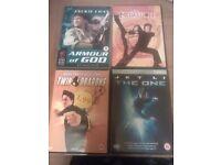 Jackie Chan and Jet li dvds £4