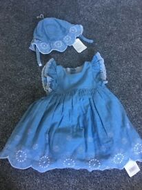 Mothercare dress with sun hat