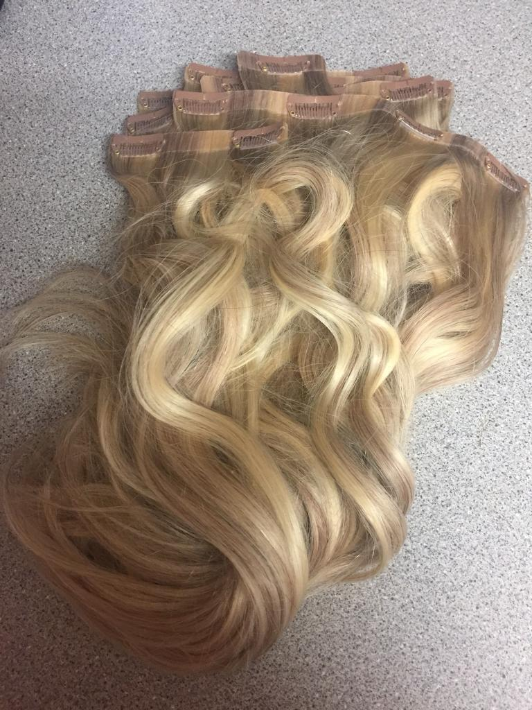 Foxy Locks Hair Extensions Latte Blonde Never Worn 18 Seamless