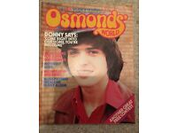 22 Osmonds world ( official magazines) will sell as a set or individually.1973 to 1976