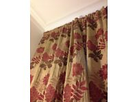 Top quality blackout-lined curtains for large/bay windows