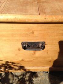 Antique pine storage box
