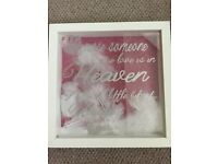Beautiful frame for wedding in rememberance