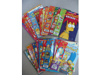 39 issues of The Simpsons and Best of the Simpsons Comics 2002 / 2003 / 2004 - v good condition