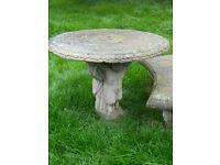 Garden stone style cherub design table (matching lot 237)