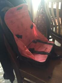 Portable high chair or chair booster
