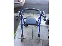 Blue 4 Wheeler Disability Walker