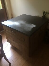 Free standing hand made kitchen Island for sale
