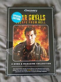 Bear Grylls Escape From Hell - 4 DVDs & Magazine Collection