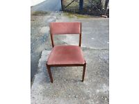 Wooden chairs with velvet cover: £22 each
