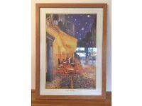 Café Terrace at Night (Cafe Terrace) by Van Gogh - Oak Effect Framed Print