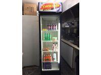 Lucozade tall fridge