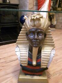 Coffee Table Egyptian King Tut Stunning