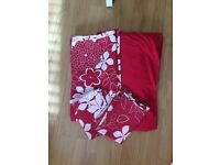 Red Floral Double Duvet Set